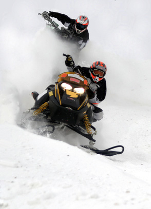 Image result for snowmobile races